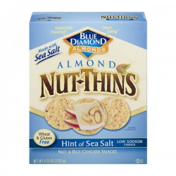 Blue Diamond Almonds Nut-Thins Nut & Rice Cracker Snacks Hint of Sea Salt