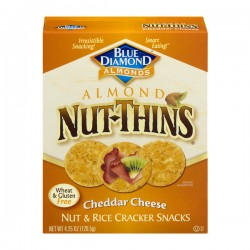 Blue Diamond Almonds Almond Nut-Thins Nut & Rice Cracker Snacks Cheddar Cheese