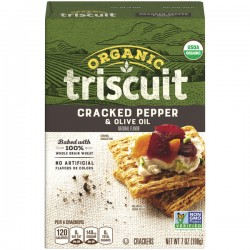 Triscuit Organic Crackers, Cracked Pepper & Olive Oil