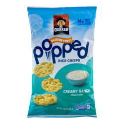 Quaker Gluten Free Popped Rice Crisps Creamy Ranch