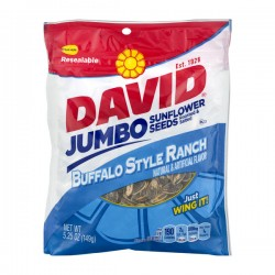 David Jumbo Sunflower Seeds Buffalo Style Ranch