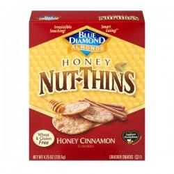 Blue Diamond Almonds Honey Nut-Thins Cracker Snacks Honey Cinnamon