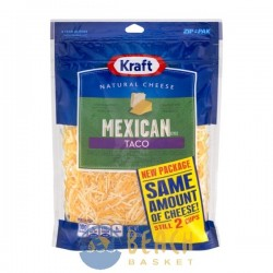 Kraft Mexican Taco Finely Shredded Cheese