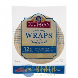 Toufayan Bakeries Wraps Classic Plain - 6 CT
