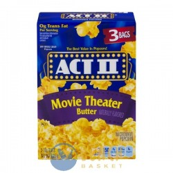 ACT II Microwave Popcorn Movie Theater Butter - 3 CT