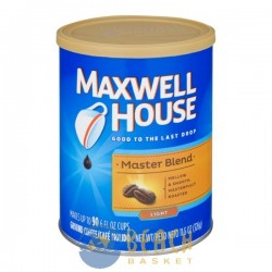 Maxwell House Coffee Grounds Light Roast Master Blend