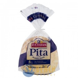 Toufayan Bakeries Pita Classic White - 6 CT