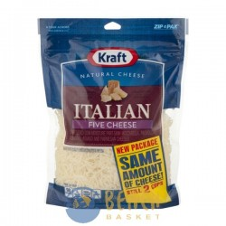 Kraft Natural Cheese Shredded Five Cheese Italian