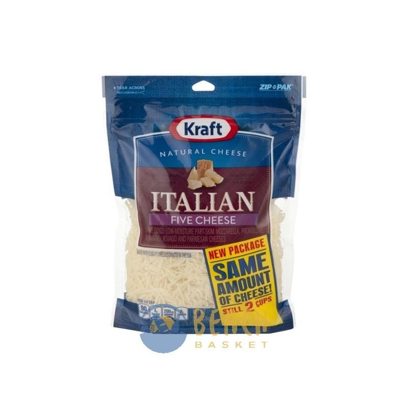 Kraft Natural Cheese Shredded Five Cheese Italian Beach