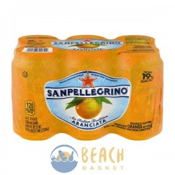 San Pellegrino Sparkling Beverage Orange - 6 CT