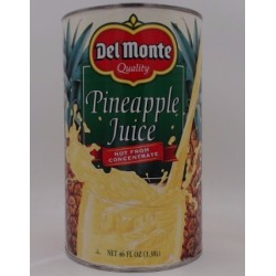 DEL MONTE PINEAPPLE JUICE 46oz