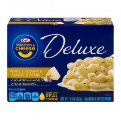 Kraft Macaroni & Cheese Deluxe White Cheddar & Garlic Herb