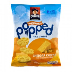 Quaker Gluten Free Popped Rice Crisps Cheddar Cheese