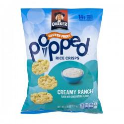 Quaker Popped Rice Crisps Creamy Ranch