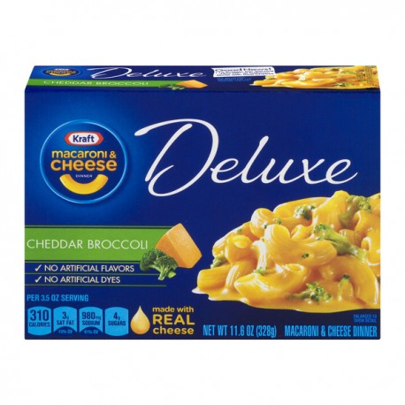 Kraft Deluxe Macaroni & Cheese Cheddar Broccoli