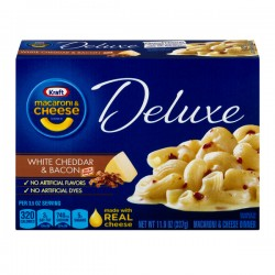 Kraft Macaroni & Cheese Deluxe White Cheddar & Bacon