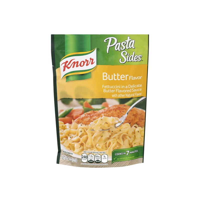 Knorr Pasta Sides Fettuccini Butter Flavor Beach Basket