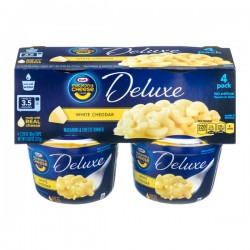 Kraft Macaroni & Cheese Deluxe White Cheddar - 4 PK