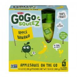 GoGo Squeez Applesauce On The Go Apple Banana - 4 CT