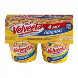 Kraft Velveeta Shells & Cheese Original Cups - 4 CT