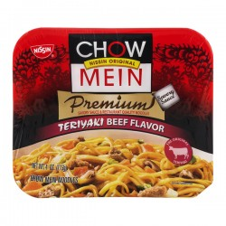 Nissin Chow Mein Premium Teriyaki Beef Chow Mein Noodles