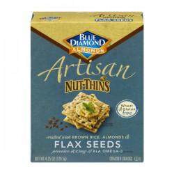 Blue Diamond Almonds Artisan Nut-Thins Flax Seeds