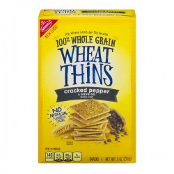 Wheat Thins 100% Whole Grain Snacks Cracked Pepper & Olive Oil